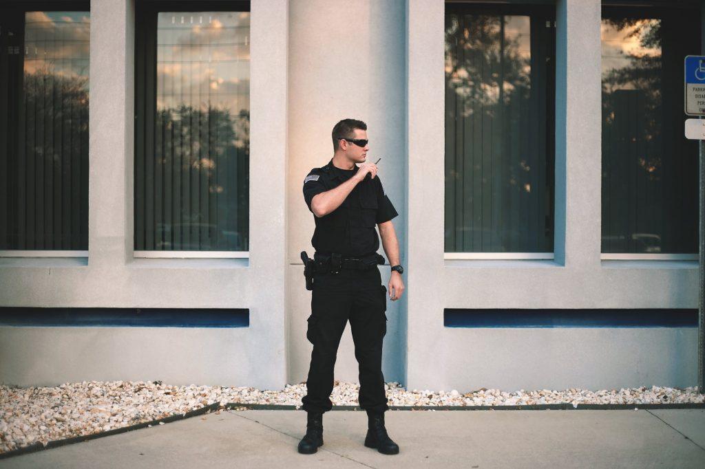Alert security Guard